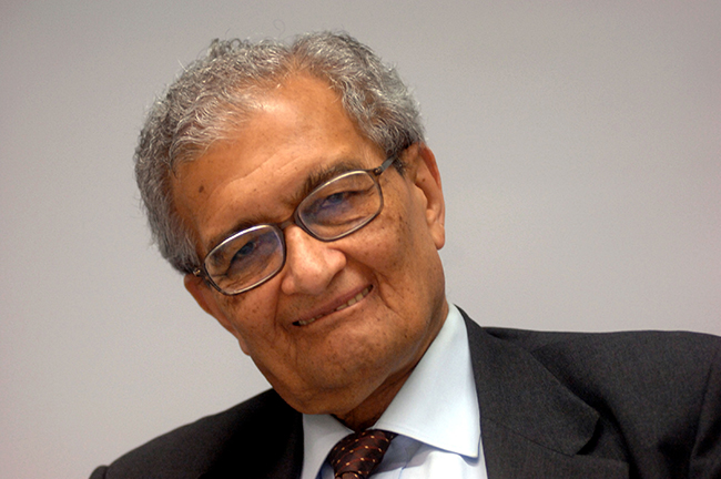Amartya Sen Attends Conference On Leadeship And Management